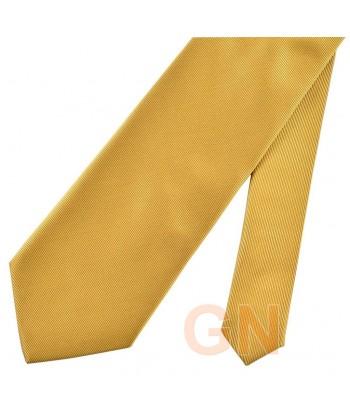 Corbata microfibra color oro