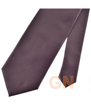 Corbata microfibra color marrón