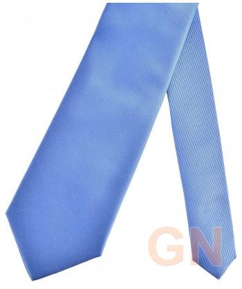 Corbata microfibra color azul