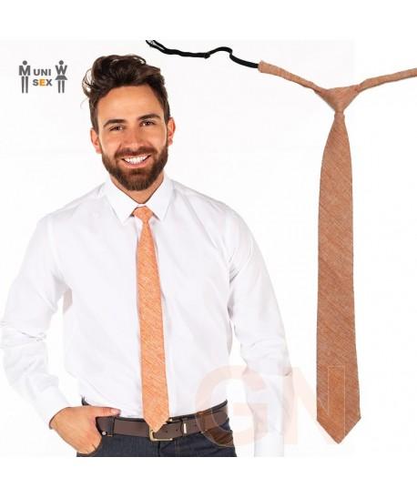 Corbata de arpillera para hostelería color naranja