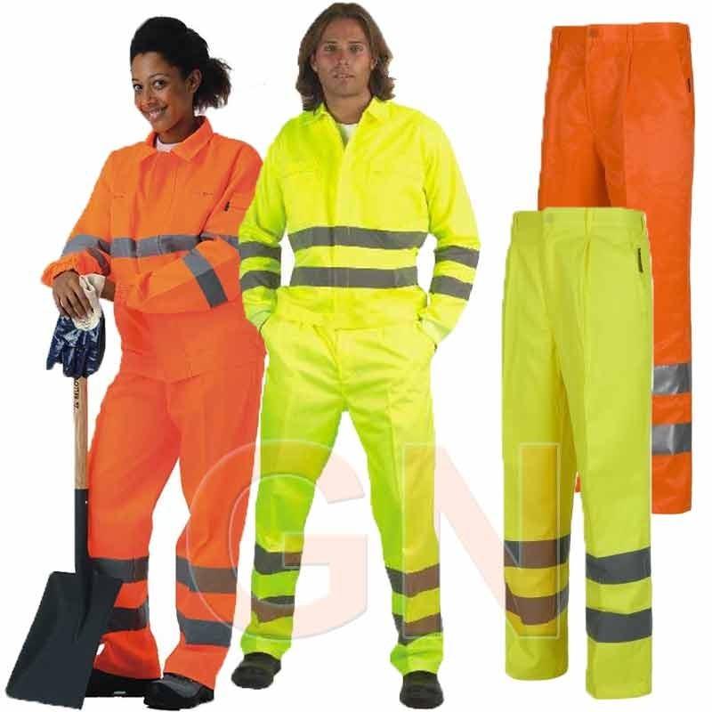 Pantalón alta visibilidad monocolor clase 2