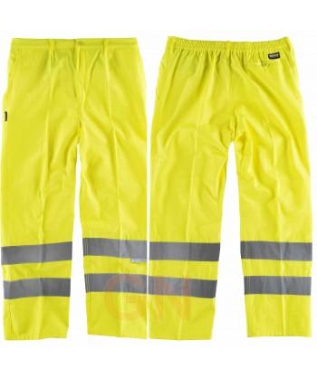 Pantalón alta visibilidad monocolor clase 2 amarillo A.V.