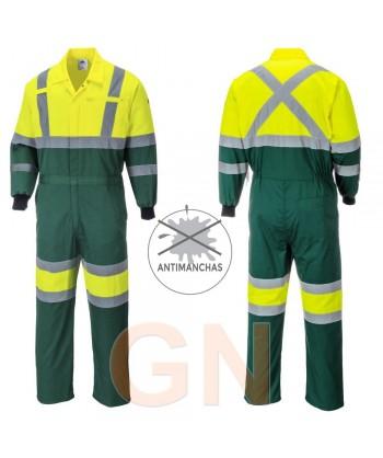 Buzo bicolor alta visibilidad verde/amarillo A.V. Portwest E052