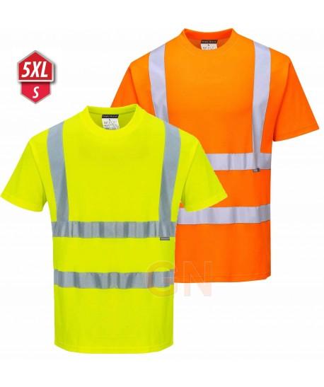 Camiseta bicapa manga corta alta visibilidad