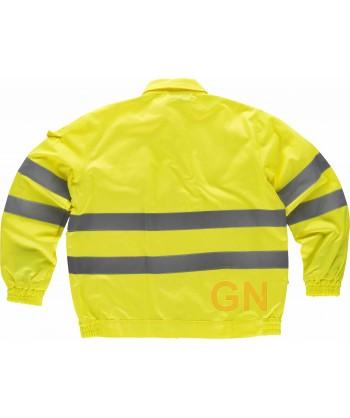 Cazadora de trabajo alta visibilidad monocolor amarillo flúor