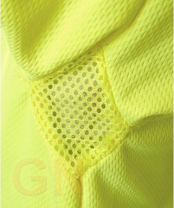 Polo manga larga alta visibilidad amarillo A.V./gris