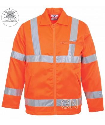 Cazadora de alta visibilidad en naranja. Portwest RT40