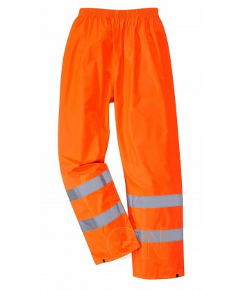 Pantalón alta visibilidad monocolor para lluvia o agua naranja A.V. Portwest H441