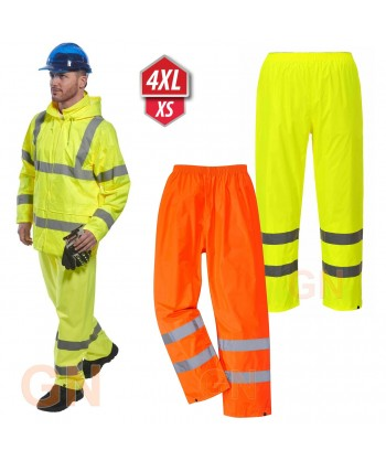 Pantalón alta visibilidad monocolor para lluvia o agua Portwest H441
