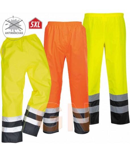Pantalón alta visibilidad bicolor para lluvia o agua