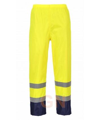 Pantalón bicolor marino/amarillo alta visibilidad para lluvia o agua