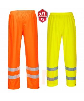 Pantalón monocolor de poliuretano alta visibilidad para lluvia o agua