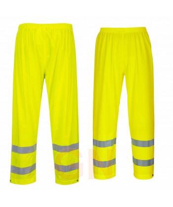 Pantalón monocolor de poliuretano amarillo alta visibilidad para lluvia o agua Portwest S493