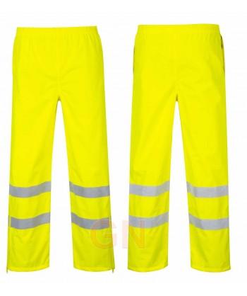 Pantalón monocolor amarillo alta visibilidad para lluvia o agua