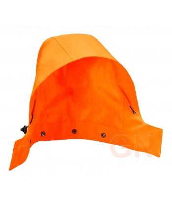 Capucha integral con membrana en naranja alta visibilidad