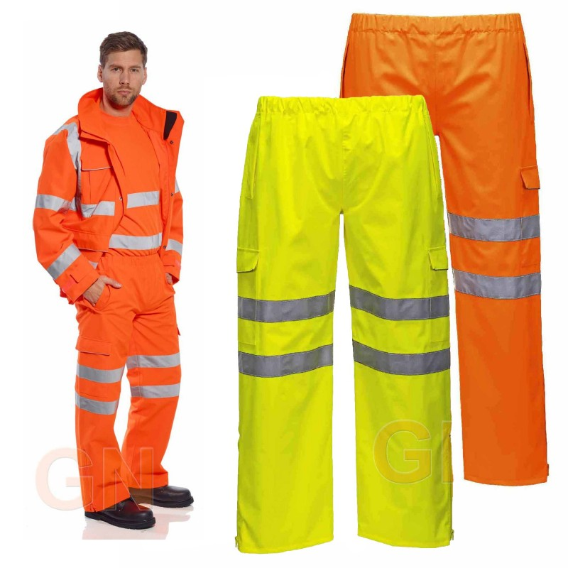 Pantalón amarillo alta visibilidad con membrana impermeable y transpirable
