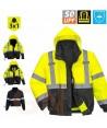 Cazadora amarilla/negra alta visibilidad con forro desmontable
