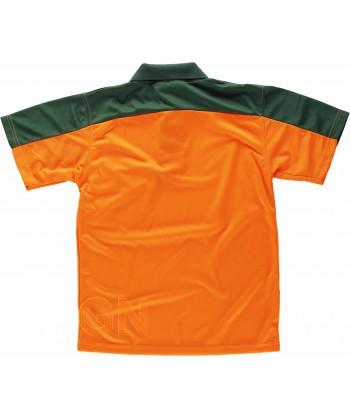 Polo técnico deportivo con tejido bicolor de alta visibilidad