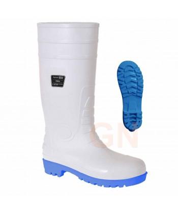 Bota alimentaria de agua antiácidos de seguridad S5 SRC E A color blanco