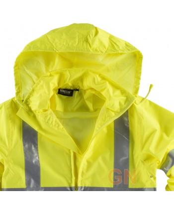 Traje de agua o lluvia amarillo y naranja alta visibilidad