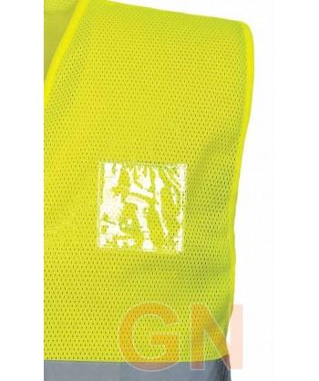 Chaleco amarillo alta visibilidad de rejilla transpirable