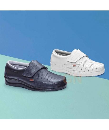 zapato sanitario económico con cierre velcro