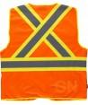 Chaleco multibolsillos naranja flúor /amarillo flúor con cintas reflectantes y fluorescentes