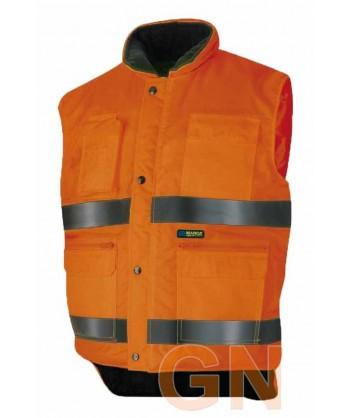 Chaleco acolchado naranja alta visibilidad