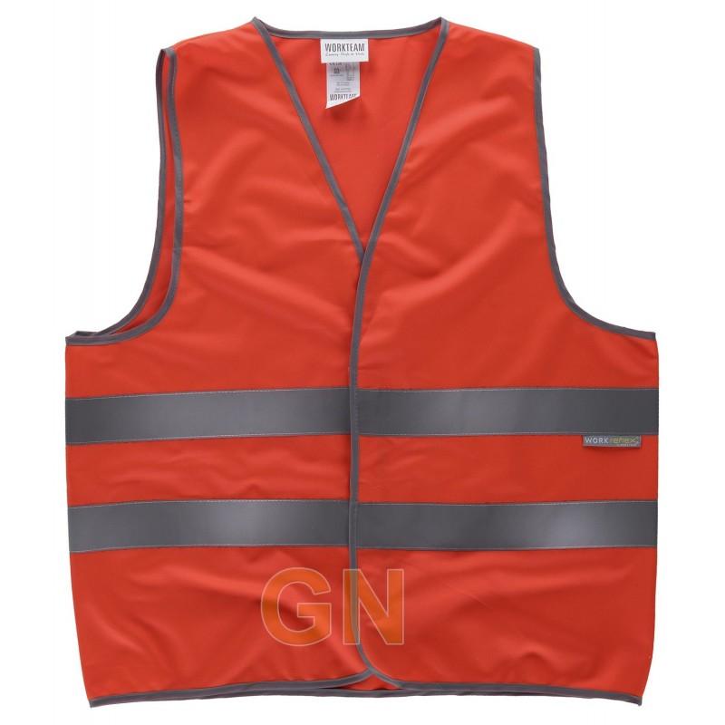 Chaleco rojo alta visibilidad clase 2cierre velcro
