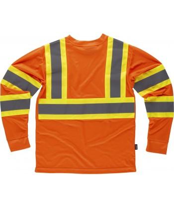 Camiseta con cintas reflectantes y fluorescentes