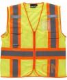 Chaleco de rejilla alta visibilidad con cintas reflectantes y fluorescentes