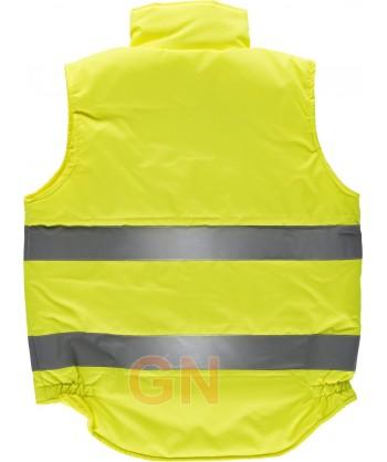 Chaleco acolchado clase 2 multibolsillos en amarillo alta visibilidad