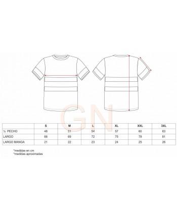 Camiseta manga corta gris/rojo con cintas reflectantes segmentadas