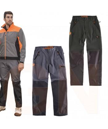 Pantalón sport multibolsillos con refuerzos color gris/negro