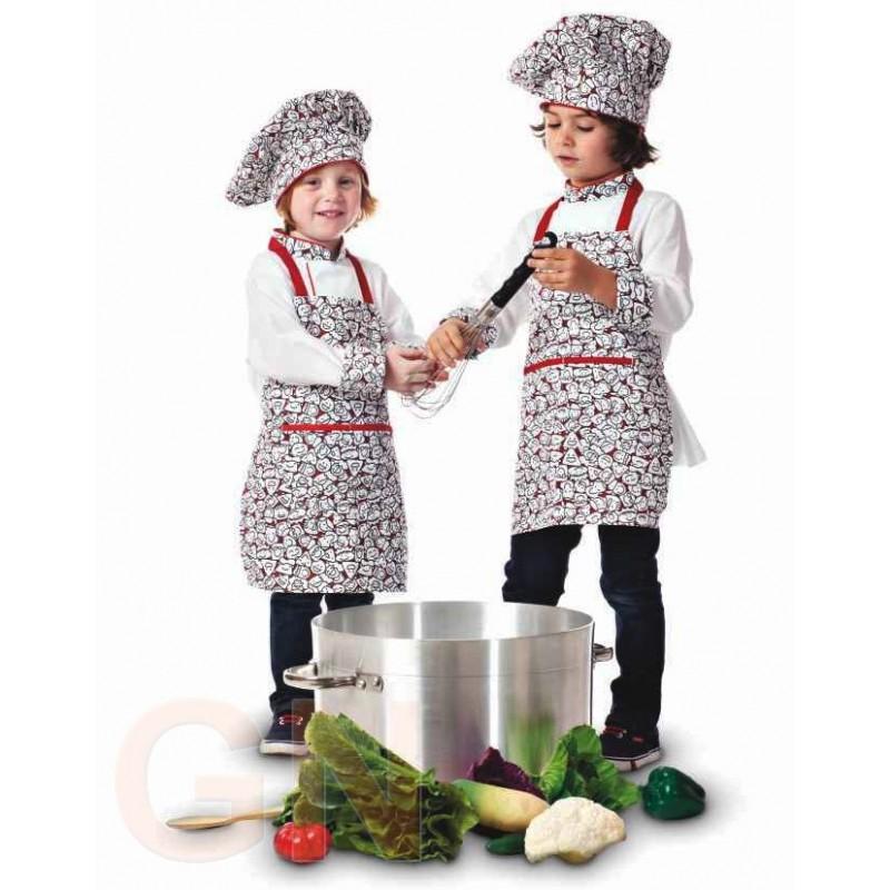 Set infantil de cocina con estampado de caras sonrientes