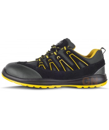 Zapato deportivo tipo trekking de seguridad Gris/amarillo