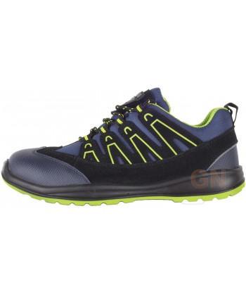 Zapato deportivo tipo trekking de seguridad Marino/verde
