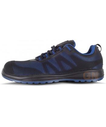 Zapato deportivo tipo trekking de seguridad no metálico azulina/negro