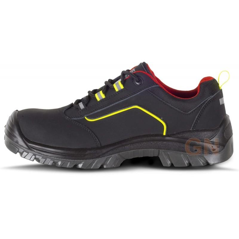 Zapatos deportivos de seguridad en piel. No metálicos