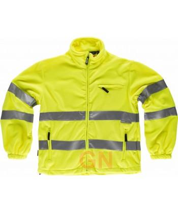 Chaqueta polar en alta visibilidad clase 3 amarilla alta visibilidad