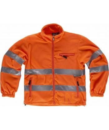 Chaqueta polar en alta visibilidad clase 3 naranja alta visibilidad
