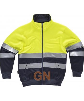 Sudadera bicolor de marino/naranja alta visibilidad