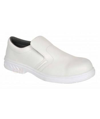 Zapato mocasín alimentario con puntera y transpirable