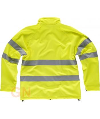 Softshell alta visibilidad clase 2 monocolor amarillo flúor