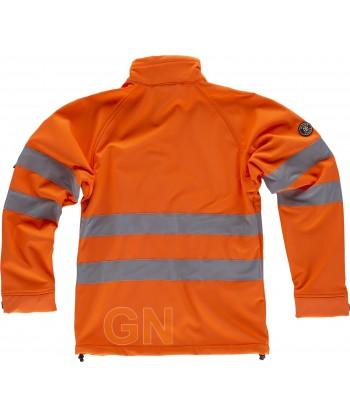 Softshell alta visibilidad clase 2 monocolor naranja flúor