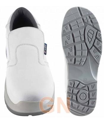 Zapato mocasín alimentario con puntera y plantilla de seguridad y transpirable