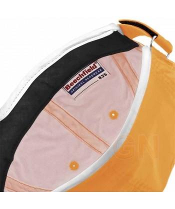 Gorra naranja alta visibilidad con bordes reflectantes