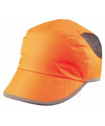 Gorra alta visibilidad transpirable color naranja alta visibilidad