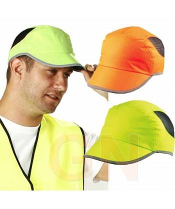 Gorra alta visibilidad transpirable color amarillo alta visibilidad