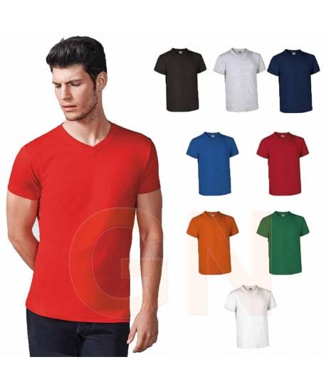 Camiseta cuello pico de manga corta